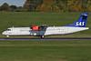 Scandinavian Airlines-SAS (Flybe) ATR 72-212A (ATR 72-600) G-FBXA (msn 1260) BHX (Ian Bowley). Image: 929668.