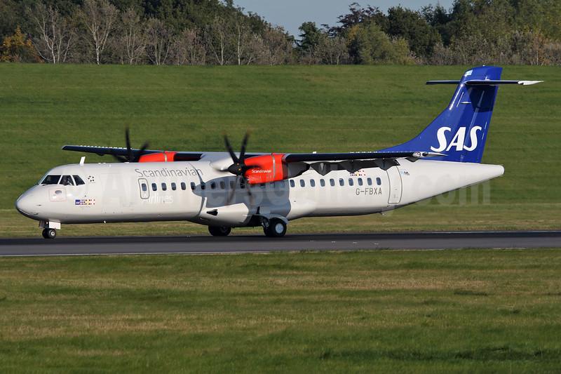 Scandinavian Airlines-SAS (Flybe) ATR 72-212A (ATR 72-600) G-FBXA (msn 1260) BHX (Ian Bowley). Image: 929669.