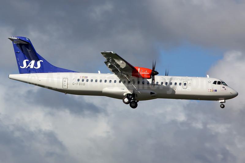 Scandinavian Airlines-SAS (Flybe) ATR 72-212A (ATR 72-600) G-FBXB (msn 1277) SEN (Keith Burton). Image: 929701.