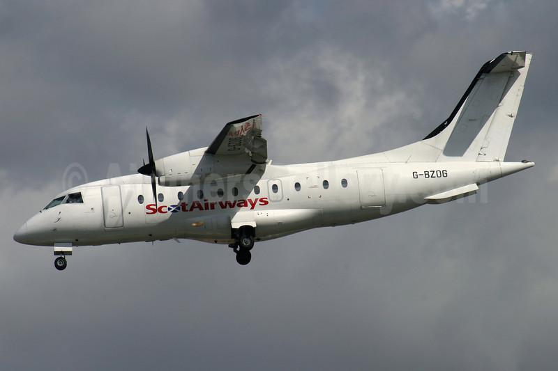 ScotAirways (Suckling Airways) Dornier 328-110 G-BZOG (msn 3088) LCY (Antony J. Best). Image: 906766.