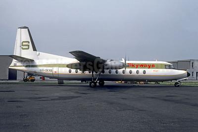 Skyways Aviation (UK) Fairchild FH-227B G-SKYB (msn 539) BVA (Christian Volpati). Image: 953585.