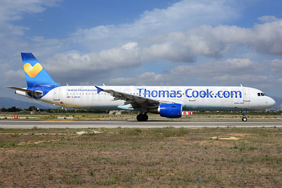 Thomas Cook Airlines (UK) (Thomas Cook.com) Airbus A321-211 G-DHJH (msn 1238) PMI (Ton Jochems). Image: 920876.