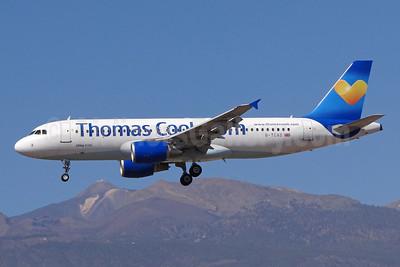 Thomas Cook Airlines (UK) (Thomas Cook.com) Airbus A320-214 G-TCAD (msn 2114) (Sunny Heart logo) TFS (Paul Bannwarth). Image: 922385.