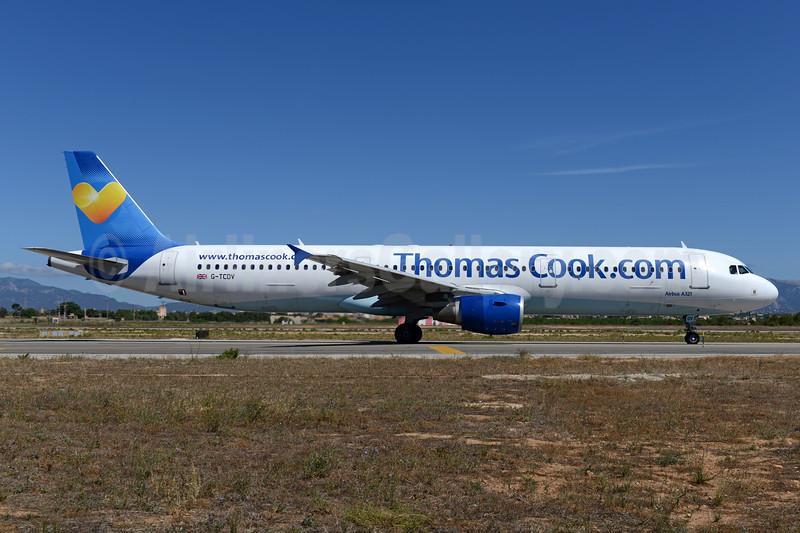 Thomas Cook Airlines (UK) (Thomas Cook.com) Airbus A321-211 G-TCDV (msn 1972) PMI (Ton Jochems). Image: 937665.