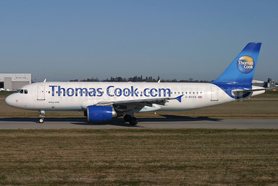 Thomas Cook Airlines (UK) (Thomas Cook.com) Airbus A320-214 G-BXKB (msn 716) STN (Antony J. Best). Image: 902225.