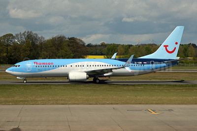 Thomson Airways Boeing 737-8K5 SSWL G-TAWC (msn 39922) EDI (SPA). Image: 932560.