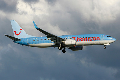 Thomson Airways Boeing 737-8K5 WL C-FLZR (msn 35145) YUL (Gilbert Hechema). Image: 910268.