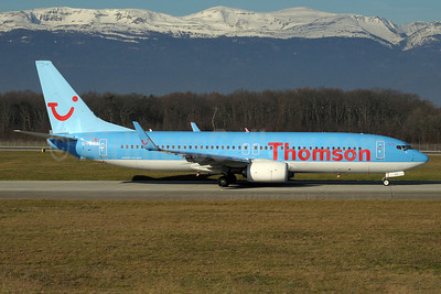 Thomson Airways Boeing 737-8K5 WL G-FDZZ (msn 37262) GVA (Paul Denton). Image: 911036.