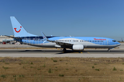 Thomson Airways Boeing 737-8K5 SSWL G-FDZF (msn 35138) PMI (Ton Jochems). Image: 934061.