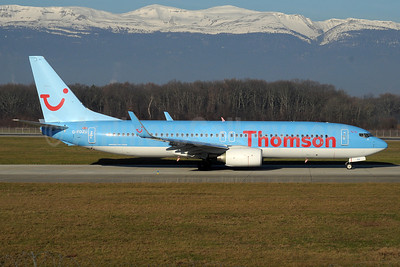 Thomson Airways Boeing 737-8K5 WL G-FDZU (msn 37253) GVA (Paul Denton). Image: 911034.