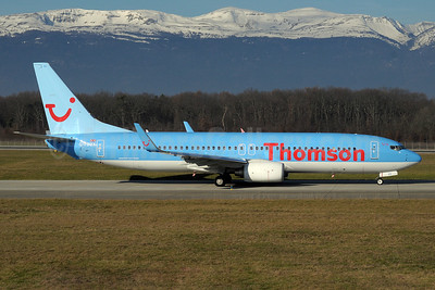 Thomson Airways Boeing 737-8K5 WL G-FDZX (msn 37258) GVA (Paul Denton). Image: 911035.