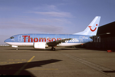 Thomsonfly (Thomsonfly.com) Boeing 737-5L9 G-THOA (msn 24859) AMS (Nico G.J. Roozen - Bruce Drum Collection). Image: 953517.