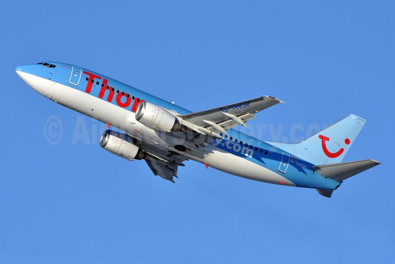 Thomsonfly (Thomsonfly.com) Boeing 737-3U3 G-THOP (msn 28740) LGW (Richard Vandervord). Image: 904662.