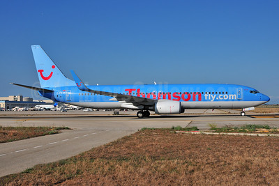 Thomsonfly (Thomsonfly.com) Boeing 737-8K5 WL G-FDZE (msn 35137) PMI (Ton Jochems). Image: 953520.