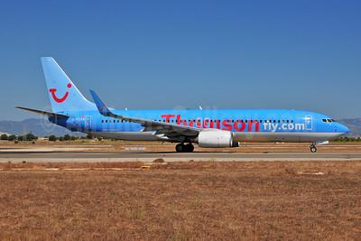 Thomsonfly (Thomsonfly.com) Boeing 737-8K5 WL G-FDZB (msn 35131) PMI (Ton Jochems). Image: 953519.