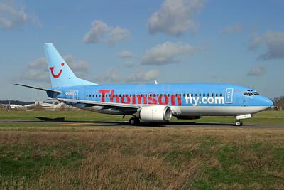 Thomsonfly (Thomsonfly.com) Boeing 737-36Q G-ODUS (msn 28659) SEN (Antony J. Best). Image: 949870.