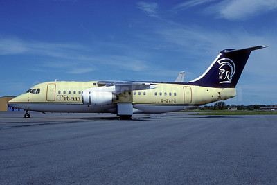 Titan Airways BAe 146-200 G-ZAPK (msn E2148)  GSE (Christian Volpati Collection). Image: 911154.