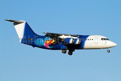 Titan Airways BAe 146-200 G-ZAPO (msn E2176) ARN (Stefan Sjogren). Image: 911156.