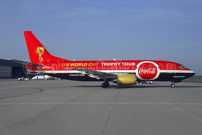 """Coca-Cola FIFA World Cup 2018 Trophy Tour"" logo jet"