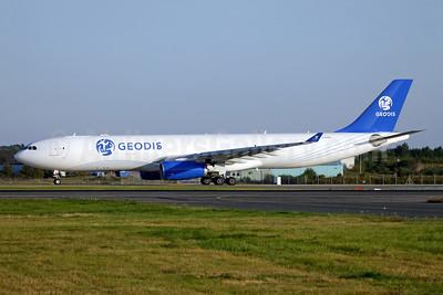 Geodis (Titan Airways) Airbus A330-343P2F G-EODS (msn 713) STN (Antony J. Best). Image: 955444.
