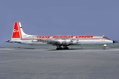 Trans Meridian London Canadair CL-44D4-2 Swingtail G-AWWB (msn 17) BHX (Jacques Guillem Collection). Image: 946554.
