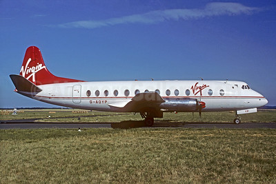 Virgin Atlantic Airways (British Air Ferries-BAF) Vickers Viscount 806 G-AOYP (msn 265) BVA (Michel Gilliand). Image: 932942.