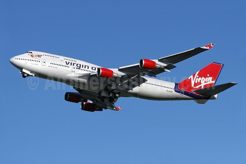 Virgin Atlantic Airways Boeing 747-4Q8 G-VHOT (msn 26326) LHR (Keith Burton). Image: 901790.