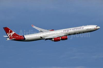 Virgin Atlantic Airways Airbus A340-642 G-VFIT (msn 753) LHR (SPA). Image: 934907.
