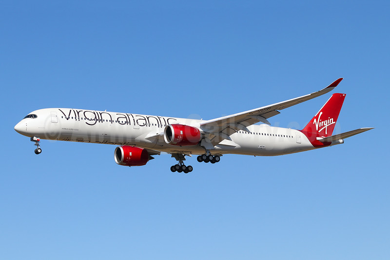 """Mamma Mia"", Virgin Atlantic's first A350-1000"