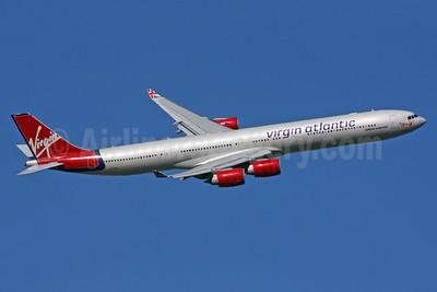 Virgin Atlantic Airways Airbus A340-642 G-VBLU (msn 723) LHR (SPA). Image: 924731.