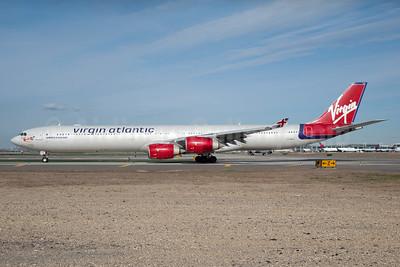 Virgin Atlantic Airways Airbus A340-642 G-VBLU (msn 723) JFK (Fred Freketic). Image: 934151.