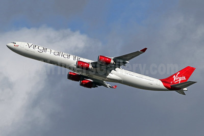 Virgin Atlantic Airways Airbus A340-642 G-VWEB (msn 787) LHR (SPA). Image: 943799.