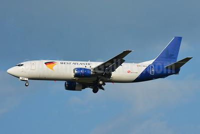 West Atlantic Cargo Airlines (UK) (Swiftair) Boeing 737-4K5 (F) EC-NMJ (G-JMCZ) (msn 24126) (MNG Airlines colors) BSL (Paul Bannwarth). Image: 954579.