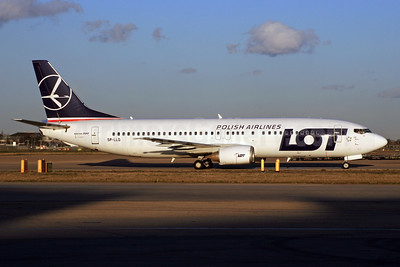 LOT Polish Airlines Boeing 737-45D SP-LLG (msn 28753) LHR. Image: 928157.