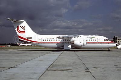 NortJet (Loganair) BAe 146-200 G-OLCA (msn E2099) (Loganair colors) LGW (Jacques Guillem Collection). Image: 934459.