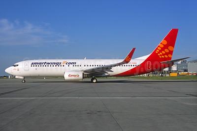 SmartWings (smartwings.com) Boeing 737-8GJ WL VT-SGU (msn 37366) (SpiceJet colors) PRG (Jacques Guillem Collection). Image: 933384.