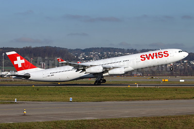Swiss International Air Lines Airbus A340-313 HB-JMN (msn 175) ZRH (Andi Hiltl). Image: 933109.