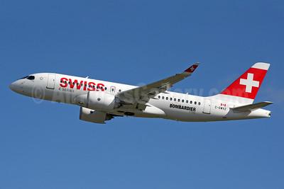Swiss International Air Lines Bombardier CS100 (BD-500-1A10) C-GWXZ (msn 50005) FAB (SPA). Image: 933747.
