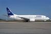 TAROM-Transporturile Aeriene Romane (Romanian Air Transport) Boeing 737-38J YR-BGE (msn 27395) LHR. Image: 929655.