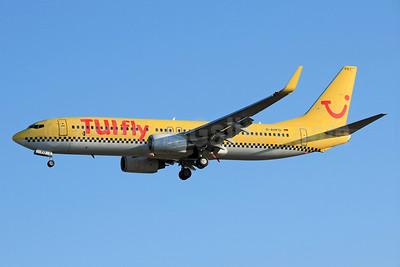TUIfly (TUIfly.com) (Germany) Boeing 737-8K5 WL D-AHFO (msn 27987) (hlx.com colors) PMI (Eurospot). Image: 934531.