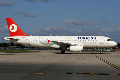 Turkish Airlines Airbus A320-232 TC-JPR (msn 3654) LHR. Image: 931480.