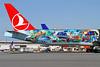 Istanbul side of Turkish Istanbul-San Francisco logo jet
