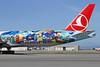 San Francisco side of Turkish Istanbul-San Francisco logo jet