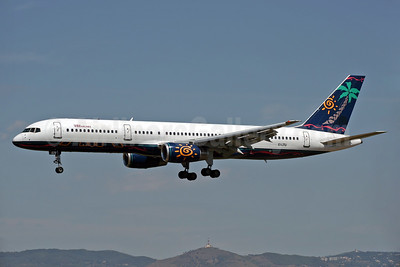 VIM Airlines (VIM Avia) Boeing 757-23N EI-LTU (msn 30233) (ATA Airlines colors) BCN (Jacques Guillem Collection). Image: 933005.