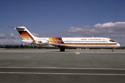 Aero California McDonnell Douglas DC-9-32 XA-THB (msn 47648) LAX (Bruce Drum). Image: 105067.