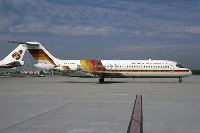 Aero California McDonnell Douglas DC-9-32 XA-TBQ (msn 47553) LAX (Bruce Drum). Image: 105584.