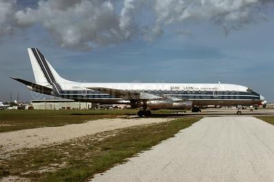 Aero León S.A. Carga Mexico McDonnell Douglas DC-8-32 N995WL (msn 45603) MIA (Bruce Drum). Image: 103513.