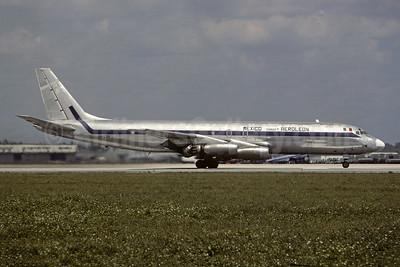 Aero León Carga Mexico McDonnell Douglas DC-8-21 (F) XA-LSA (msn 45296) MIA (Christian Volpati). Image: 945586.