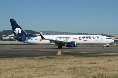 AeroMexico Boeing 737-9 MAX 9 XA-HSB (msn 43713) BFI (Nick Dean). Image: 954256.