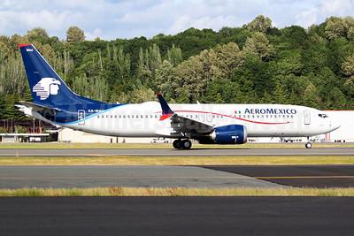AeroMexico Boeing 737-8 MAX 8 XA-MAU (msn 43709) BFI (Joe G. Walker). Image: 953819.